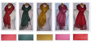PD003AW11 – Pashmina Cashmere & Silk Shawl – Plain – Limited Edition Size  70 x 180 cms Price £39.99