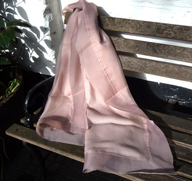 100% Silk Organza Shawl with 100% Pashmina Cashmere back - Elegance 